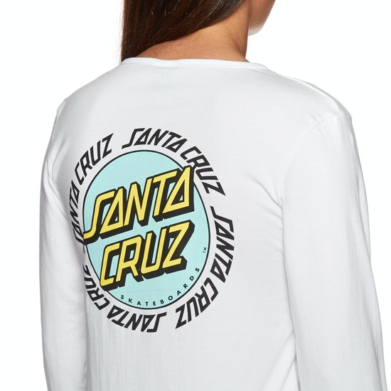 Santa Cruz Ringed Dot Ladies Long Sleeve T-Shirt