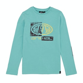 Animal Board Boys Long Sleeve T-Shirt - Pacific Blue