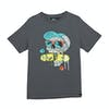 Animal Snapper Boys Short Sleeve T-Shirt - Cast Iron Grey