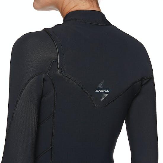 O Neill Womens Hyperfreak 5/4mm Chest Zip Wetsuit
