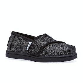 Scarpe Slip On Toms Glimmer Mini - Black