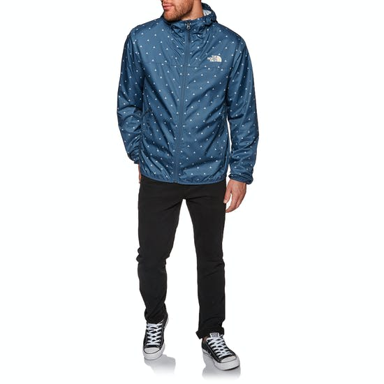 North Face Printed Cyclone Hooded Windproof Jacket