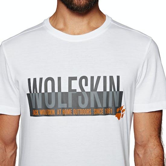 Jack Wolfskin Slogan Short Sleeve T-Shirt