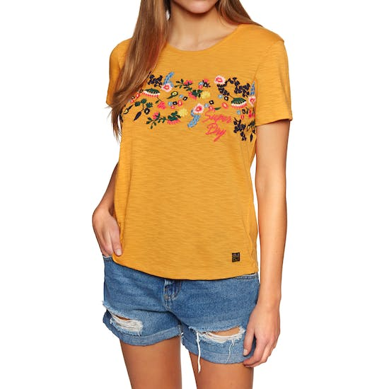 T-Shirt à Manche Courte Femme Superdry Lexi Embroidered
