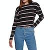 T-Shirt à Manche Longue SWELL Swell Cropped - Black Stripe