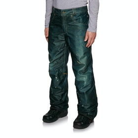 686 Deconstructed Denim Insulated Snow Pant - Dark Denim Sublimation