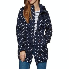 Joules Coastmid Print Womens Waterproof Jacket - Navy Spot