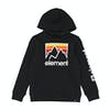 Element Joint Boys Pullover Hoody - Off Black