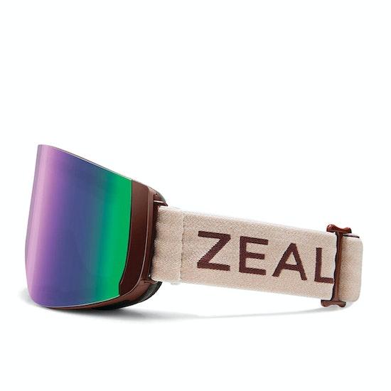 Zeal Hatchet Maroon Bells ~ Jade Mirror + Sky Blue Mirror Snow Goggles