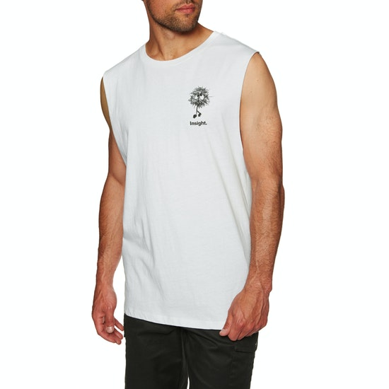 Insight Fuzzy Logo Muscle Dusted Top