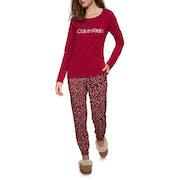 Calvin Klein Pj In A Box Cotton LS Pant Set Schlafanzüge