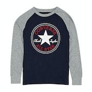 Converse Chuck Patch Raglan Kids Long Sleeve T-Shirt