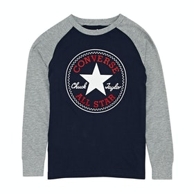 Converse Chuck Patch Raglan Kids Long Sleeve T-Shirt - Obsidian
