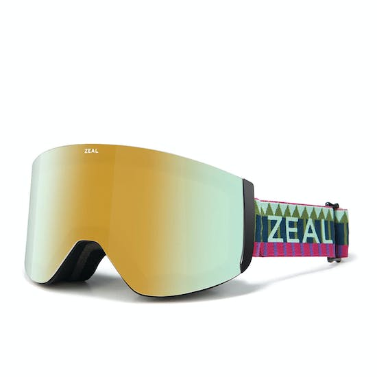 Zeal Hatchet Royal Peacock ~ Alchemy Mirror + Sky Blue Mirror Snow Goggles