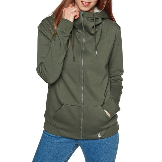 Volcom Walk On By Sherpa Ladies Zip Hoody