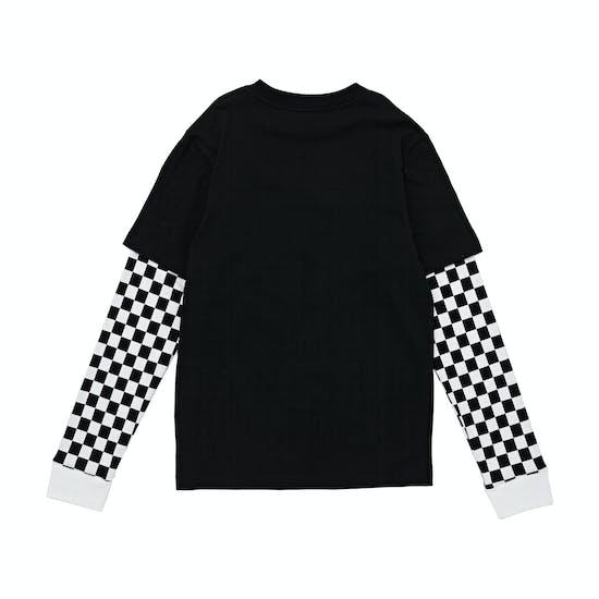 Vans Checker Sleeve Two Fer Boys Long Sleeve T-Shirt