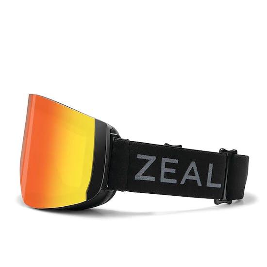 Zeal Hatchet Dark Night -Phoenix mirror + Sky Blue Mirror Snow Goggles