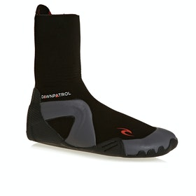 Rip Curl Dawn Patrol 5mm Round Toe Wetsuit Boots - Black