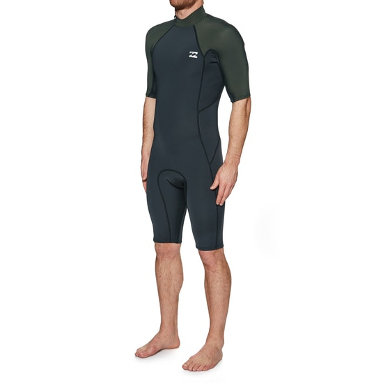 Billabong Absolute 2/2mm Back Zip Short Sleeved Shorty Wetsuit