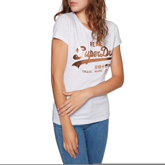 Superdry Vintage Logo Metalwork Dames T-Shirt Korte Mouwen