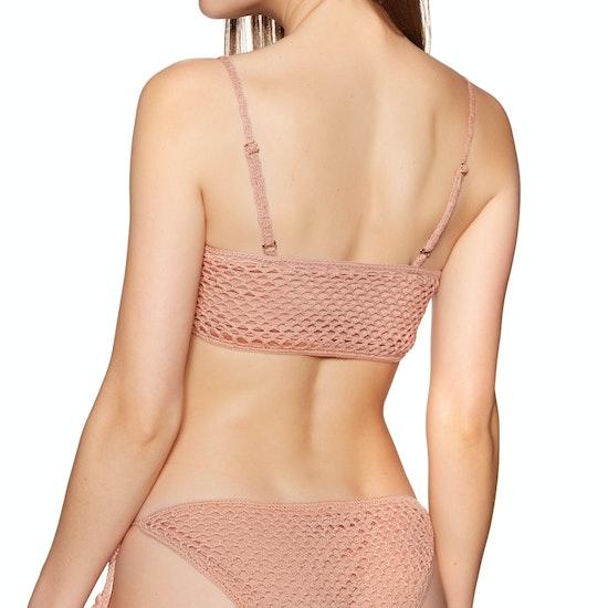 Minkpink Adrift Crochet Bandeau Bikini Top