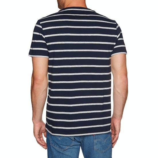 Camiseta de manga corta Superdry Orange Label Portland Stripe Pocket