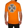 Independent Bar Cross Short Sleeve T-Shirt - Orange
