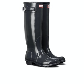 Hunter Original Tall Gloss Womens Wellies - Dark Slate