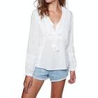 Amuse Society Let It Shine Woven Ladies Long Sleeve T-Shirt