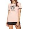 Volcom Keep Goin Ringer Womens Short Sleeve T-Shirt - Mushroom