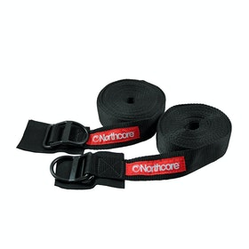 Northcore D Ring 5 Metre Tie Downs - Black