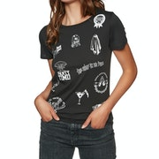 T-Shirt de Manga Curta Senhora Volcom Last Party