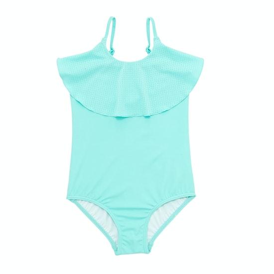 Seafolly Sweet Summer Ruffle Tank Girls Swimsuit