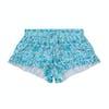 Seafolly Ocean Tapestry Frill Boardie Girls Boardshorts - Emerald Blue
