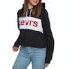 Pullover à Capuche Femme Levis Colour Block Cinched - Mineral Black