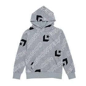 Converse Printed F.T Kids Pullover Hoody - Dark Grey Heather