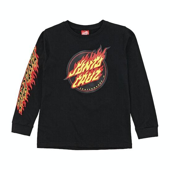 T-Shirt de Manga Comprida Criança Santa Cruz Flame Dot