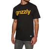 T-Shirt à Manche Courte Grizzly Lowercase - Black/yellow
