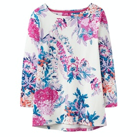 Joules Harbour Print Ladies Top - Cream Floral