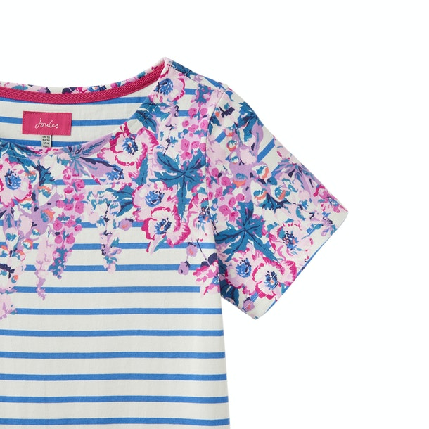 Joules Riviera Short Sleeve Jersey Print Dress