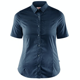 Fjallraven High Coast Stretch Ladies Short Sleeve Shirt - Navy
