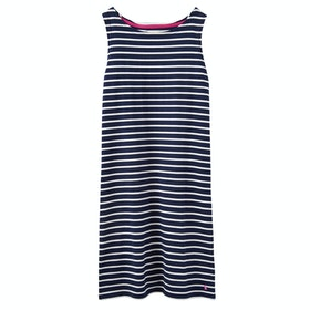 Joules Riva Jersey Dress - Navy Cream Stripe
