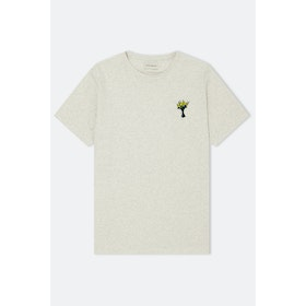 Oliver Spencer Wild Flower Embroidery S S T-Shirt - Warren Oatmeal