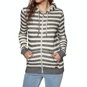 Roxy Trippin Stripes Womens Zip Hoody - Black Stripe