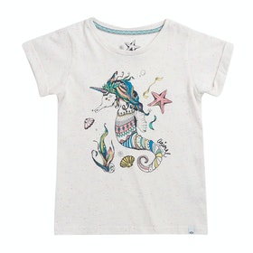 Animal Unihorse Girls Short Sleeve T-Shirt - White