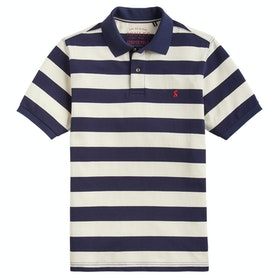 Joules Filbert Polo Shirt - Navy Cream Stripe
