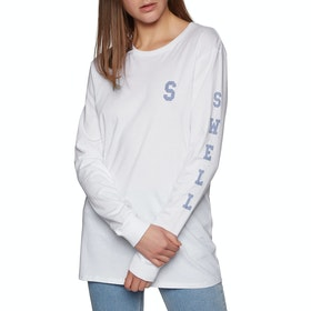 SWELL Basic Womens Long Sleeve T-Shirt - White