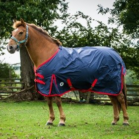 Derby House Classic Lightweight Standard Turnout Rug - Navy Red