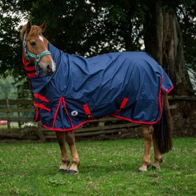 Derby House Classic Lightweight Combo Turnout Rug - Navy Red