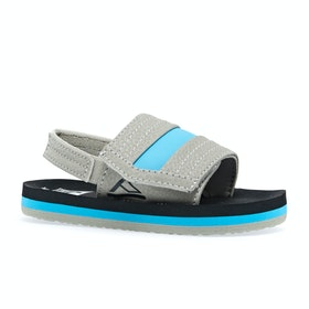Reef Little Ahi Kids Sliders - Grey Blue